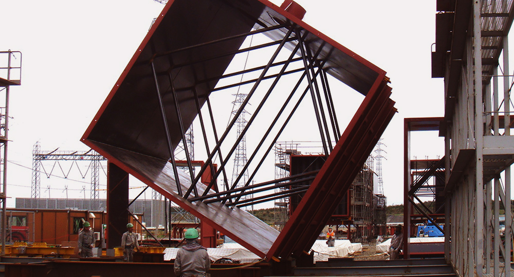 「中部電力火力発電所」の建設準備工事